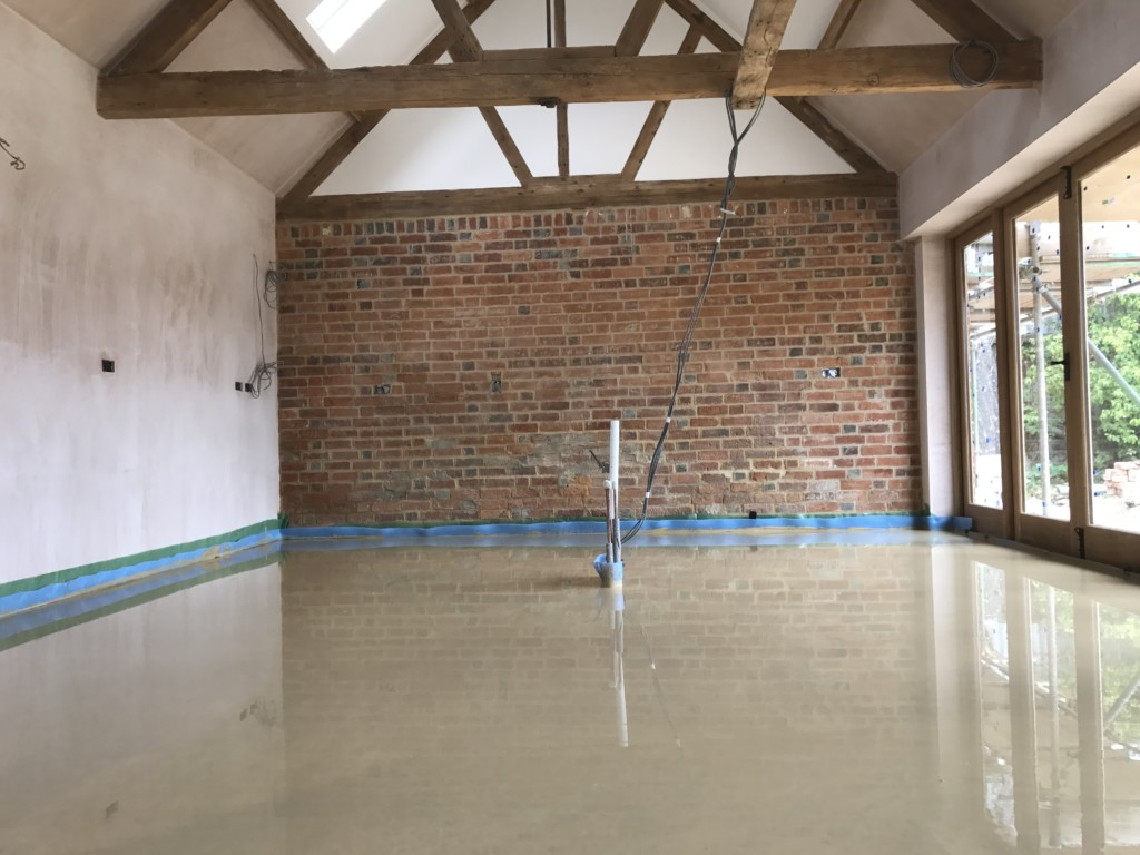 99m2 of Liquid Screed in Camden London