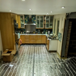 Underfloor Heating Installation In A Kitchen