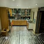 Underfloor Heating Installation In A Kitchen
