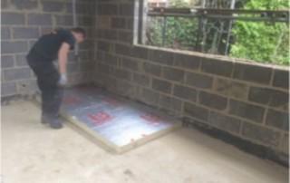 Laying Insulation